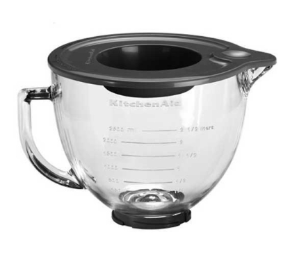 KitchenAid Glassbolle m/lokk 4,83 Liter