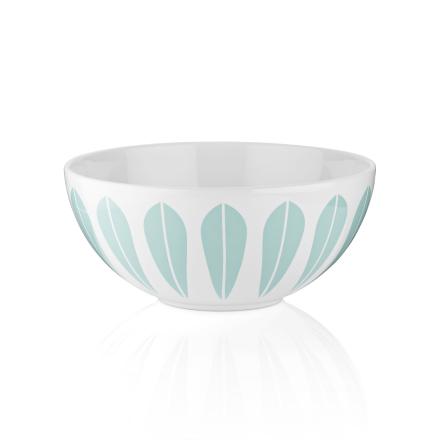 Lucie Kaas Lotus Hvit / Mint Grønn Keramikk Bolle 12 cm