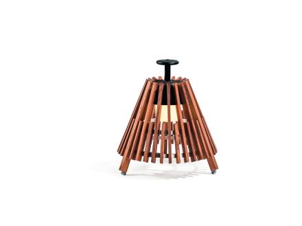 Skargaarden Marstrand Candle Lantern Dark Brown Leather