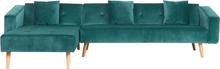 Sohva samettinen vihreä VADSO