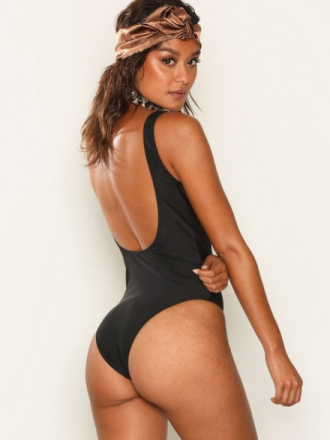 Badedrakter - Svart NLY Beach Low Back Swimsuit