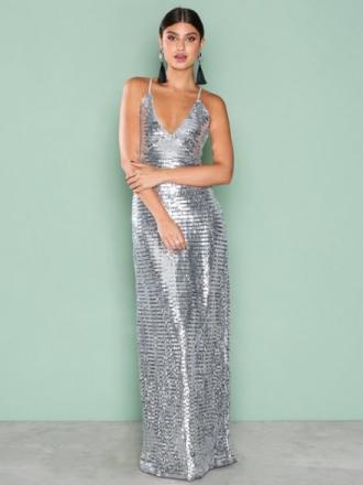 Paljettkjoler - Sølv NLY Eve Slip In Sequin Gown
