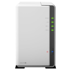 Synology DS218j NAS for 2 harddisker