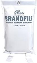 Brandfilt 120x120 Vit