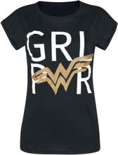 Wonder Woman - Girl Power -T-skjorte - svart