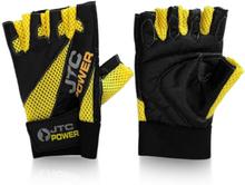 JTC POWER Gym Gloves, black/yellow, medium Handskar unisex