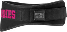 Better Bodies Womens Gym Belt, black/pink, medium Bälten