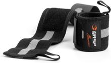 GASP 1RM Wrist Wraps, black/grey, GASP Knä & Handledslindor one size