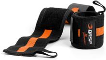 GASP 1RM Wrist Wraps, black/flame, GASP Knä & Handledslindor one size