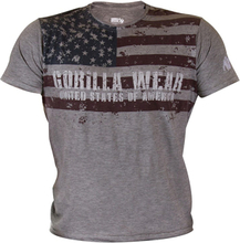 Gorilla Wear Men USA Flag Tee, large T-Shirt herr