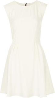Topshop regelmæssig Crepe søm Flippy kjole