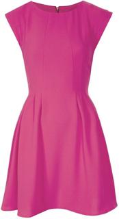 TopShop TS regelmæssig Crepe søm Flippy kjole Pink 4