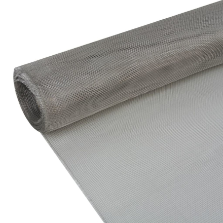 vidaXL net 100 x 500 cm rustfrit stål 202