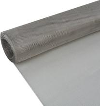 vidaXL Insektsnät rostfritt stål 100x500 cm silver