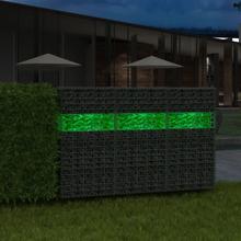 vidaXL Gabionsten glas grön 60-120 mm 25 kg