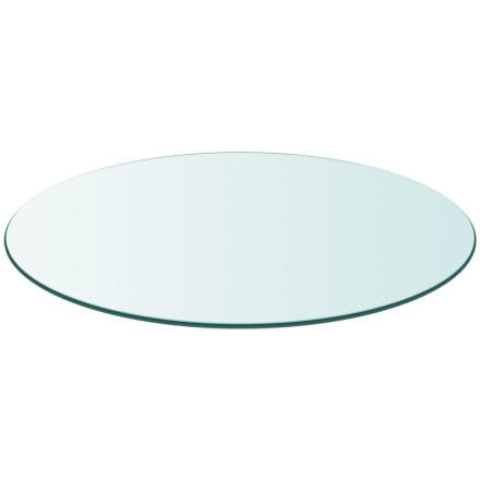 vidaXL bordplade hærdet glas rund 300 mm