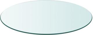 vidaXL bordplade hærdet glas rund 800 mm