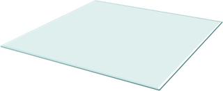 vidaXL bordplade hærdet glas firkant 700 x 700 mm
