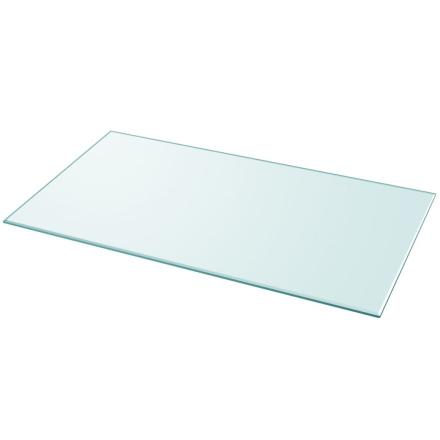 vidaXL bordplade hærdet glas rektangel 1200 x 650 mm