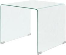 vidaXL Soffbord härdat klarglas 49,5x50x45 cm