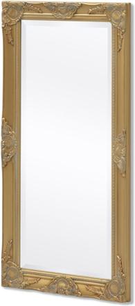 vidaXL Väggspegel i barockstil 100x50 cm guld