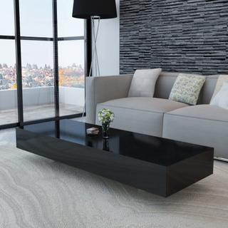 vidaXL sofabord sort højglans
