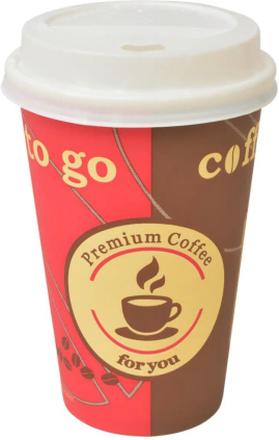 vidaXL Engångsmuggar med lock 1000 st kaffe papper 355 ml (12 oz)