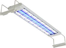 vidaXL Akvarielampa LED 50-60 cm aluminium IP67