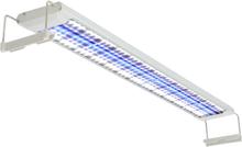 vidaXL Akvarielampa LED 80-90 cm aluminium IP67