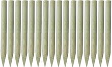 vidaXL Staketstolpar spetsiga 16 st FSC impregnerat trä 100 cm