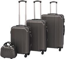 vidaXL Uppsättning hårda resväskor 4 st antracit