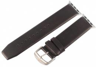 Læder rem Apple watch 42mm og 44mm Sort