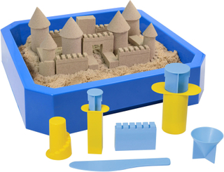 Kinetic sand - castle set (sand, bricka och castle molds)