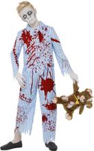 Zombie-pojke i pyjamas maskeraddräkt