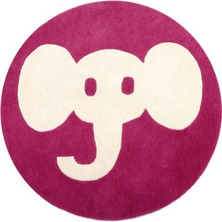 Elefant matta Rosa - rund 90cm