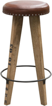 Tessa barstol - Trä/läder