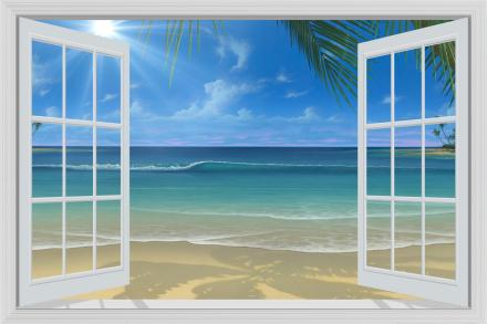 Sunshine Through Window Tapetit / tapetti 100 x 100 cm
