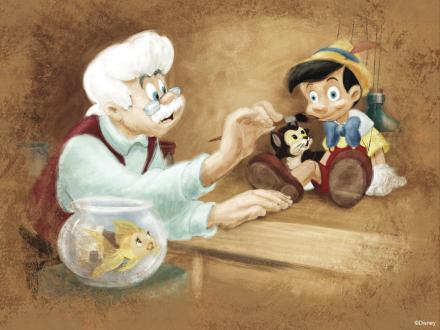 Disney Classics - Pinocchio Tapetit / tapetti 100 x 100 cm