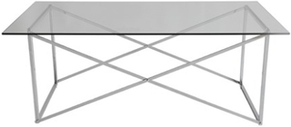 RGE Cross Soffbord, 120x65, blank krom