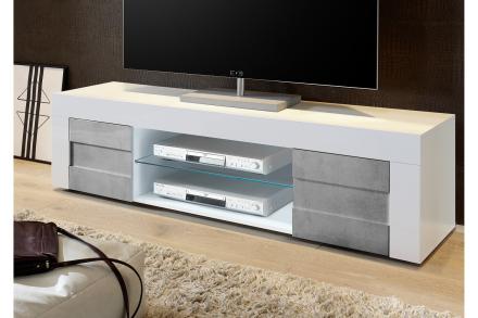 DINAMI TV-benk 181 Hvit/Betong -