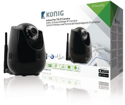 Panoroiva-kallistuva IP-kamera videoetävalvontaan sisätiloihin musta