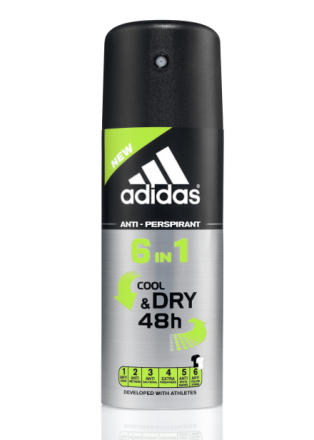 Adidas Cool & Dry 6 In 1 Deo Spray 150ml