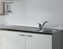 Casa underskabe og vask - hvid træ, m. skuffer, 4 moduler