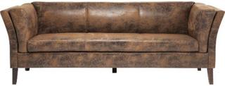 KARE DESIGN Canapee 3 pers. sofa - brunt stof/PU