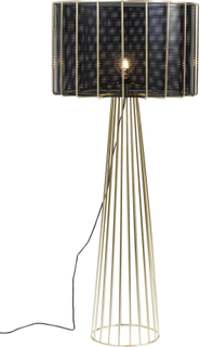 KARE DESIGN Wire Bowl gulvlampe - guld/sort stål