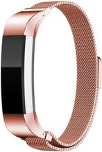 Fitbit Alta klokkereim av rustfritt stål m. magnet - Rosa
