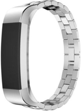 Fitbit Alta Luxury Dragon Tekstur Rustfritt Stål Armbånd - Sølv