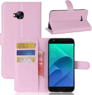 ASUS ZenFone 4 Selfie Pro (ZD552KL) Etui laget av kunstlær og silikon - Lys rosa