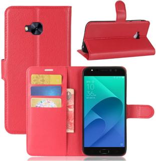 ASUS ZenFone 4 Selfie Pro (ZD552KL) Etui laget av kunstlær og silikon - Rødt