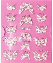 3D Rhinestone French Lace Nail Art Tarrat XF Series NO.862